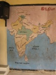 Map at a government school in Chennai