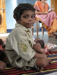 Six year old boy at Asha Deep school