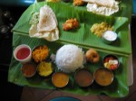 Southern Indian thaal platter