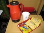 Tea on the 2nd class AC train