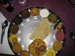 North Indian thaal in Jaipur at LMB Restaurant
